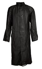 PVC Raincoat Rainmac Rubberized Storm Trench Waterproof Fetish Black NEW