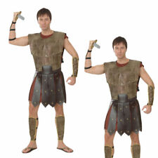 Warrior Man Costume Roman Gladiator Mens Adults Fancy Dress Outfit New