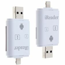 Lightning SD Card Reader USB Micro SD Card TF Adapter for iPhone 6 7 Plus i Pad