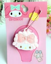 My melody pink bowknot big silica gel Key Met Protective Cover anime key ornamen