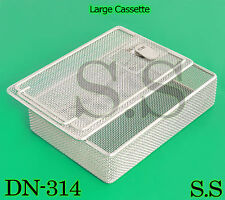 "Sterilization Cassette Tray With Lock 8.5"" x6"" x1.75"" Perforated Mesh Box DN-314"