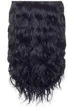 Extensions de cheveux noirs ondulés pour femme