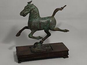 "Bronze VTG Reproduction ""Flying Horse of Gansu"" Han Dynasty 2nd Century A.D."