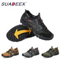 Mens Lightweight Barefoot Water Aqua Shoes Quick Dry Mesh Hiking Walking Sandals