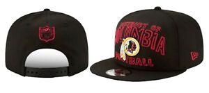 Washington Redskins Adult New Era Draft City 2020 Black 9Fifty Snapback Hat Cap