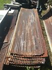 ONE Vintage 8 ft Corrugated Roof Panel Tin Old Rusty Metal  Decor 105-18J