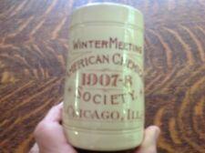 1907-08 Stoneware Mug American Chemical Society, Chicago, Ill.