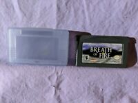 Breath Of Fire Gameboy Advance Video Game 2001 Nintendo Cartridge & Manual Only