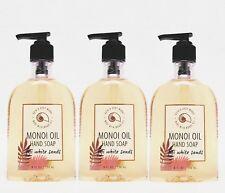 3 Bath & Body Works Fiji White Sands Nourishing Hand Soap With Manoi Oil
