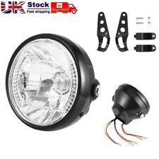 7inch Motorcycle Bike Round Headlight Halogen H4 Bulb Head Lamp + Mount Bracket