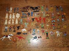 Vintage Plastic Figures Starlux Michel Louis Marx Mokarex Cowboys indians lot