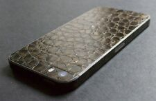 iPhone Aufkleber. 3D braune Lederstruktur Alligator. Für iPhone 4/4S/5/5S/SE