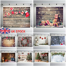 Christmas Photo Photography Props Background Cloth Vinyl Backdrop Studio UK