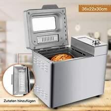 Brotbackautomat Backmeister Edelstahl Brotbackmaschine mit 25 Backprogramme