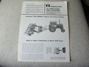 IH International 45 vibra-shank filed cultivator specification sheet brochure