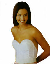 LADIES SIZE 34 B STRAPLESS WHITE LONGLONE BRA WITH LOW BACK NWT