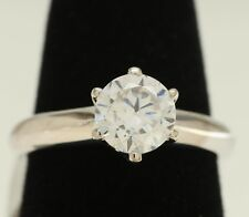 1 Carat Round Cut D VS2 Diamond Engagement Ring 14k White Gold Enhanced 8