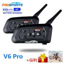 V6 auricular Bluetooth Pro BT casco de Moto Bluetooth Interphone Intercomunicador
