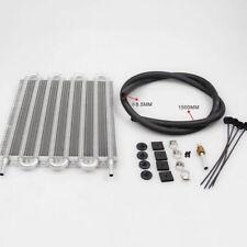 8 Row Radiator Remote Aluminum Transmission Oil Cooler + Hose / Mounting Kit