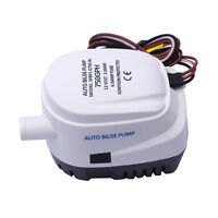 12V Boat Marine Automatic Submersible 750GPH Auto Bilge Water Pump Float Switch