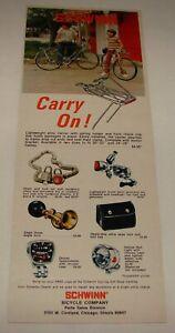 1973 SCHWINN accessories ad ~ CARRY ON!