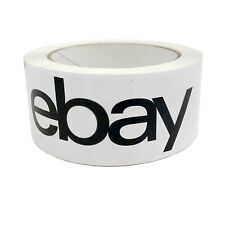 eBay Tape Brand Packaging Shipping BOPP 75 Yards 2Mil Thickness - 1 Roll - BLACK