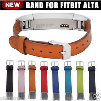 Genuine Leather Replacement Band Soft Bracelet Strap For Fitbit Alta Tracker