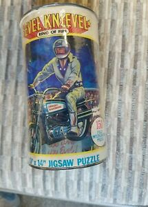 Evel Knievel Ring of Fire Vintage 1974 150 Piece Jigsaw Puzzle Harley Davidson