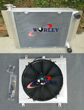 3 row radiator + shroud + fan for Mazda RX2 RX3 RX4 RX5 RX7 without heater pipe