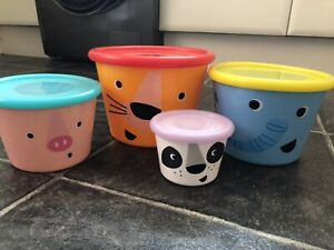 Paperchase Tupperware Food Storage Boxes, Snacks, Animals