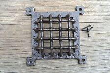 Stile medievale ferro porta / finestra GRILL spyhole COPERCHIO SFIATO GRILL gw9