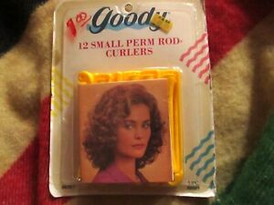 1991 Goody Perm Rod Curlers Vintage Yellow 12 Small Curlers #430/2  NEW IN BOX