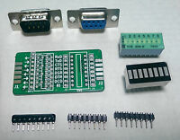 GGLABS T232 Kit - RS232 signal breakout and monitor DB9M-DB9F - DIY