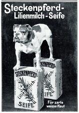 Steckenpferd soap German 1912 ad bulldog dog advertising