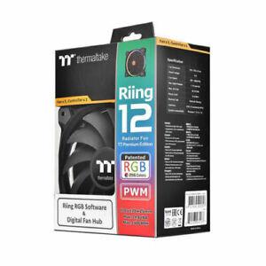Thermaltake Riing 12 RGB 256 Colors Radiator Fans 3 & 1 controller Free Shipping