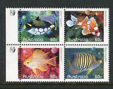 2010 Fishes of The Reef  MUH Block of 4 - 1 Koala Reprint (Left)
