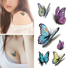 3D Temporary Tattoo Waterproof Removable butterfly Stickers Girl Body Art Tattoo
