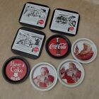 8 Vintage 1973 COCA COLA Coke COASTERS Trays Soda Pop Advertising Have A Coke