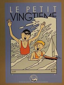 Hergé. Quick et Flupke. Sérigraphie. Baignade. 1992