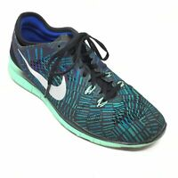 Women's Nike Free TR Fit 5 Running Shoes Sneaker Size 8.5M Black Teal Purple AG5