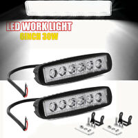 """2x 6""""Inch 30W Led Work Light Bar Spot Lamp For Offroad ATV SUV Fog Truck 4WD 12V"""