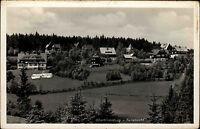 Oberbärenburg Erzgebirge alte Postkarte ~1940 Teilansicht Häuser Felder Wald