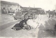 WWII German Combat RP- Unit Marked- Car- KFZ- Camouflaged Jacket- Comic- 1940s