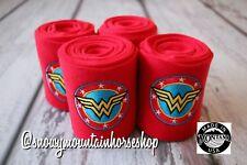 Horse Polo Leg Wraps Stable Wraps Set of 4, Embroidered Wonder Woman Polo Wraps
