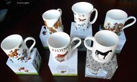 Choice of 11 Horsey Racing Equestrian Themed China Drinking Mugs New Boxed
