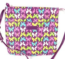 Vera Bradley Purse Flutterby Butterflies Crossbody Bag Neoprene Hipster Bag New
