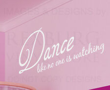 Wall Sticker Decal Quote Vinyl Art Dance Like No One is Watching Girl's Room S08
