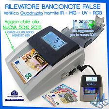 RILEVATORE BANCONOTE FALSE IR MG UV MONEY DETECTIVE AGGIORNATO AGGIORNABILE USB