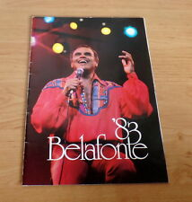 Harry Belafonte, original signed Tourprogramm 1983 + Showticket, RAR