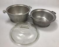 VTG Guardian Service Ware Aluminum Cookware Double Boiler Pot w/ Glass Lid AA